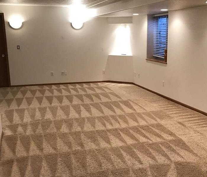 Carpet Saved and Cleaned After Washing Machine Hoses Failed Due To Improperly Being Installed